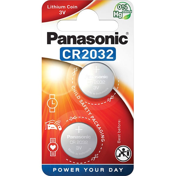 Baterii PANASONIC Lithium Coin CR-2032L, 2 bucati