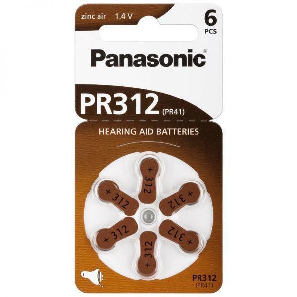 Baterii PANASONIC Zinc Air PR312, 6 bucati