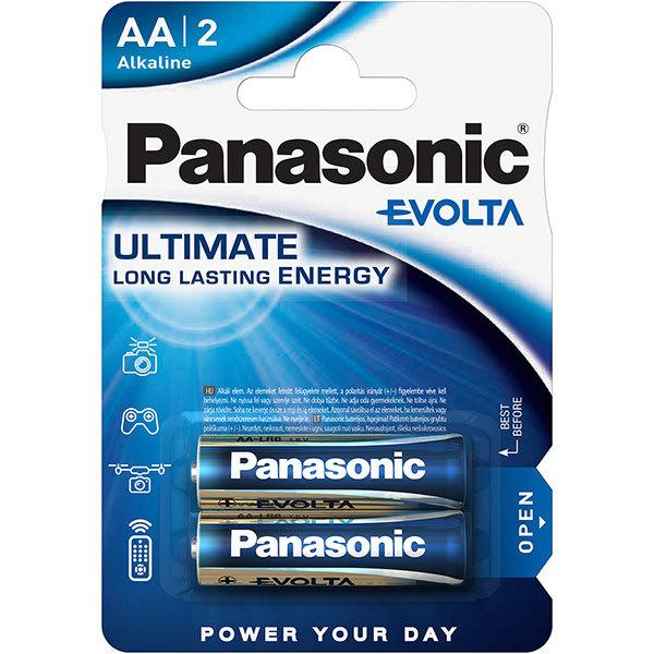 Baterii PANASONIC Evolta Alkaline LR6/AA, 2 bucati