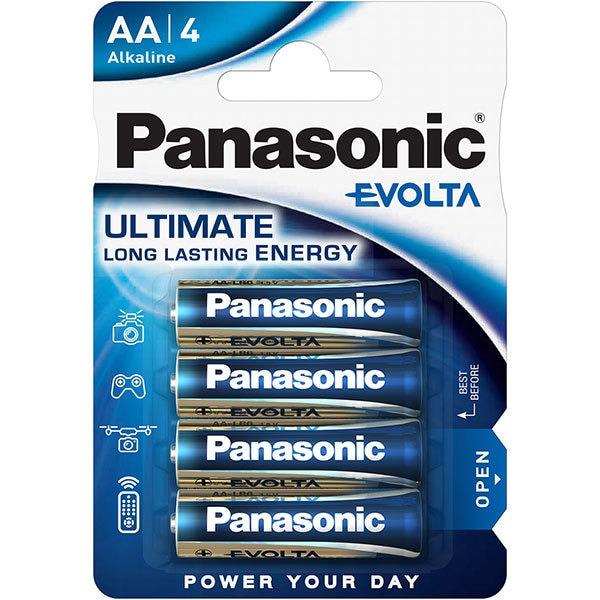 Baterii PANASONIC Evolta Alkaline LR6/AA, 4 bucati