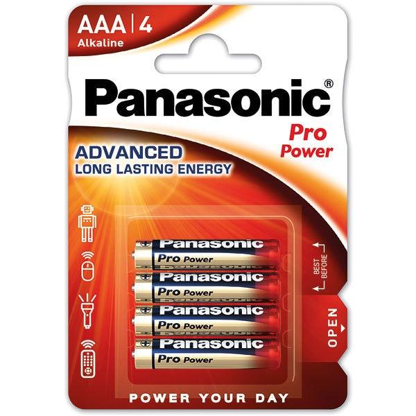 Baterii PANASONIC Pro Power Gold Alkaline LR03/AAA, 4 bucati