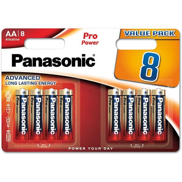 Baterii PANASONIC Pro Power Alkaline LR6/AA, 8 bucati
