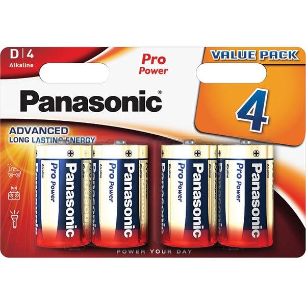 Baterii PANASONIC Pro Power Alkaline LR20/D, 4 bucati