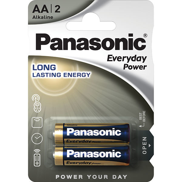 Baterii PANASONIC Everyday Power LR6/AA, 2 bucati