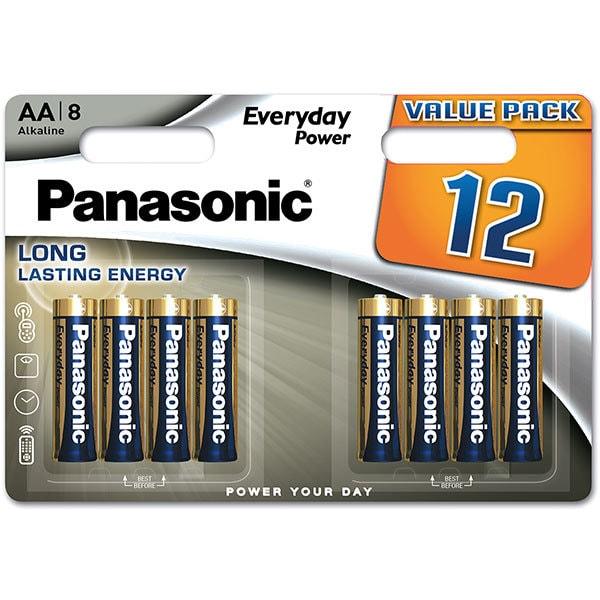Baterii PANASONIC Everyday Power LR6/AA, 12 bucati