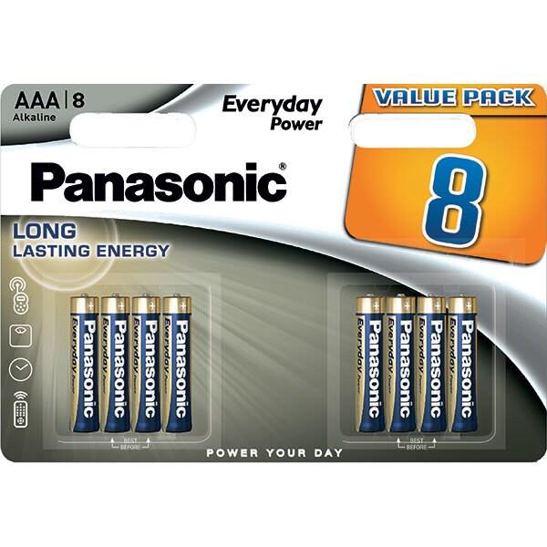 Baterii PANASONIC Everyday Power LR03/AAA, 8 bucati