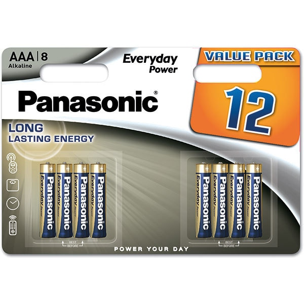 Baterii PANASONIC Everyday Power LR03/AAA, 12 bucati