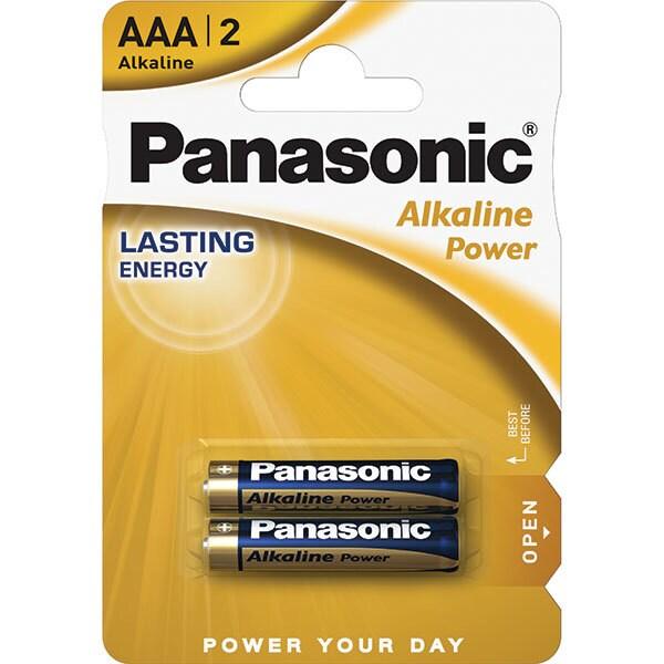 Baterii PANASONIC Alkaline Power Bronze LR03/AAA, 2 bucati