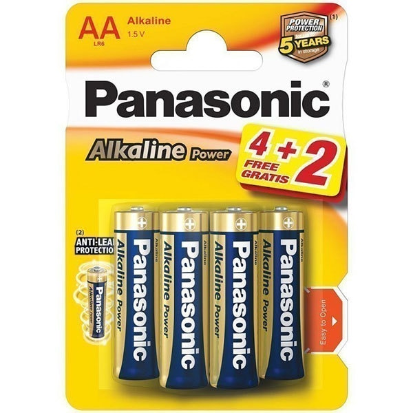 Baterii PANASONIC Alkaline Power Bronze LR6/AA, 4+2 bucati