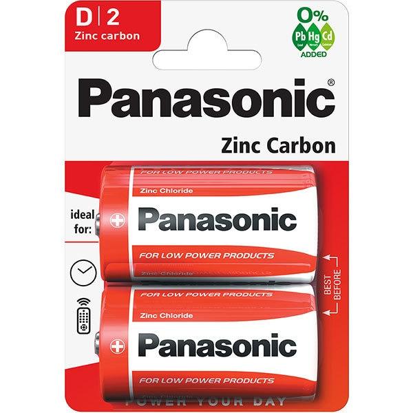 Baterii PANASONIC Red Zinc R20RZ/D, 2 bucati