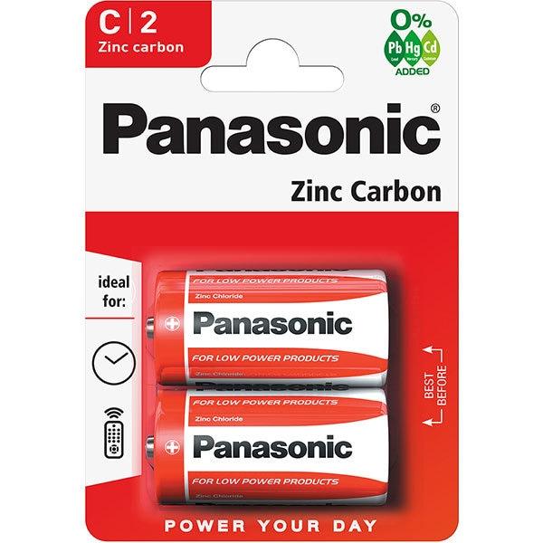 Baterii PANASONIC Red Zinc R14RZ/C, 2 bucati