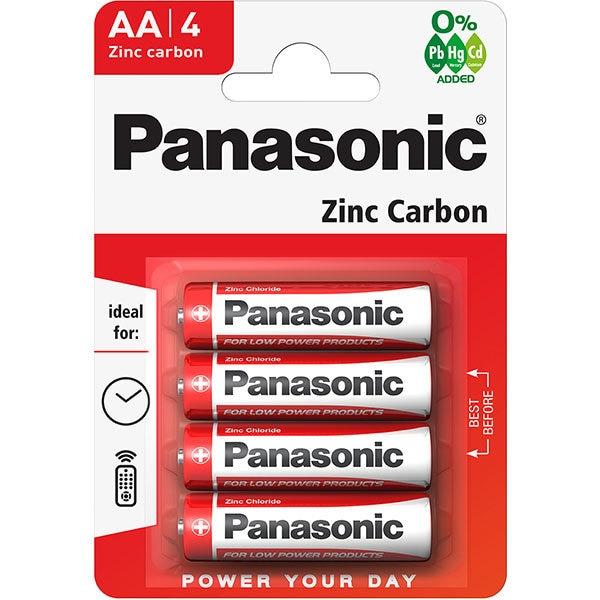 Baterii PANASONIC Red Zinc R6RZ/AA, 4 bucati