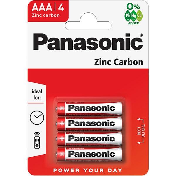 Baterii PANASONIC Red Zinc R03RZ/AAA, 4 bucati