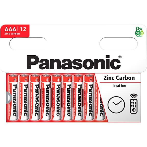 Baterii PANASONIC Red Zinc R03RZ/AAA, 12 bucati