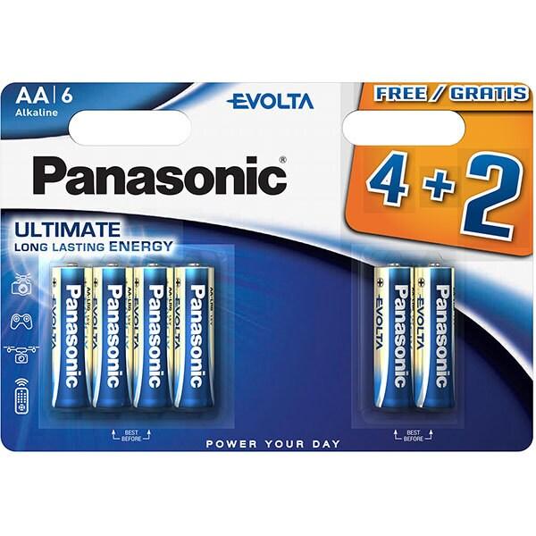 Baterii PANASONIC Evolta Alkaline LR6/AA, 4+2 bucati