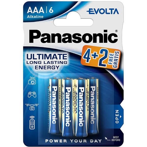 Baterii PANASONIC Evolta Alkaline LR03/AAA, 4+2 bucati