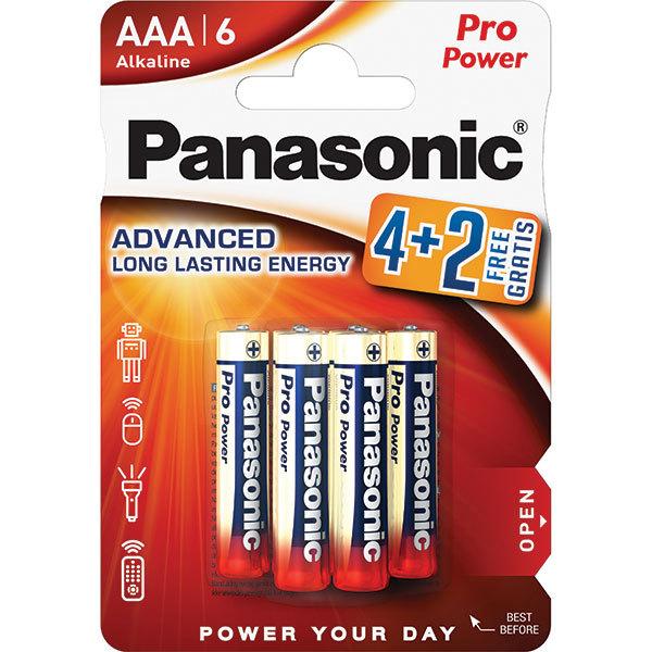Baterii PANASONIC Pro Power Alkaline LR03/AAA, 4+2 bucati