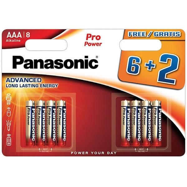 Baterii PANASONIC Pro Power Alkaline LR03/AAA, 6+2 bucati
