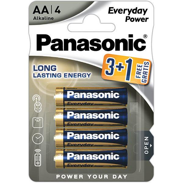 Baterii PANASONIC Everyday Power LR6/AA, 3+1 bucati