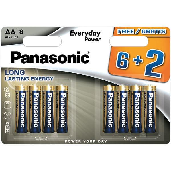 Baterii PANASONIC Everyday Power LR6/AA, 6+2 bucati