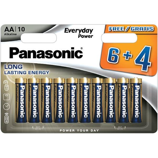 Baterii PANASONIC Everyday Power LR6/AA, 6+4 bucati