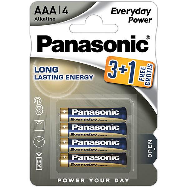 Baterii PANASONIC Everyday Power LR03/AAA, 3+1 bucati