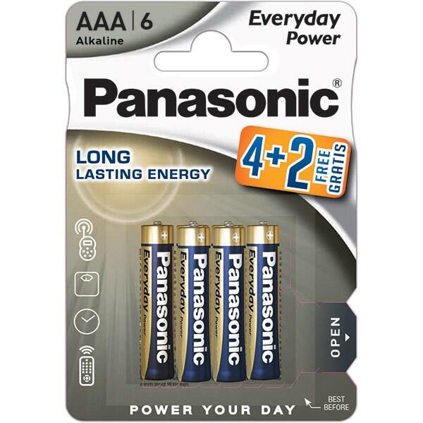 Baterii PANASONIC Everyday Power LR03/AAA, 4+2 bucati