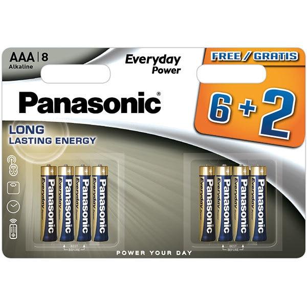 Baterii PANASONIC Everyday Powert LR03/AAA, 6+2 bucati