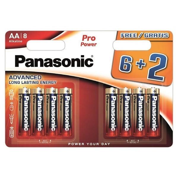 Baterii PANASONIC Pro Power Gold Alkaline LR6/AA, 6+2 bucati