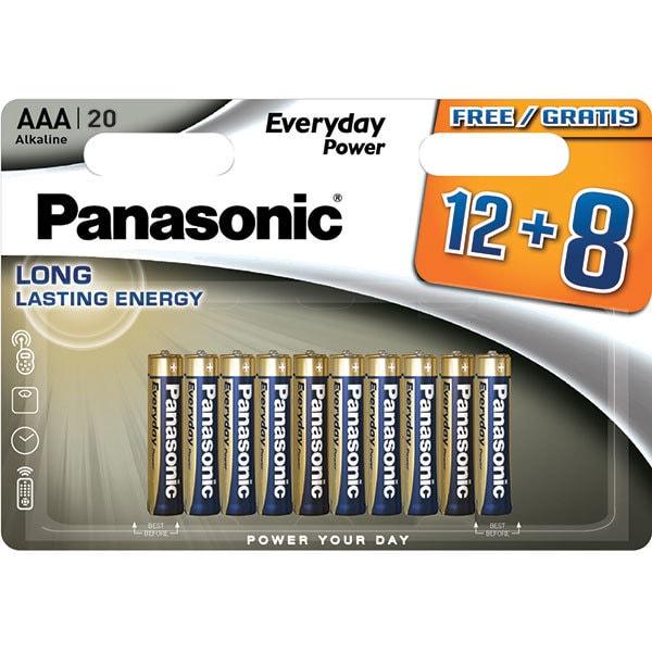 Baterii PANASONIC Everyday Power LR03/AAA, 12+8 bucati