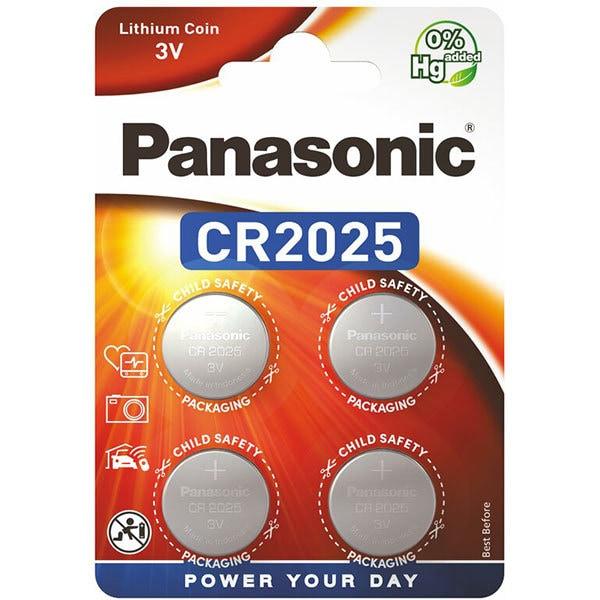 Baterii PANASONIC Lithium Coin CR-2025L, 4 bucati