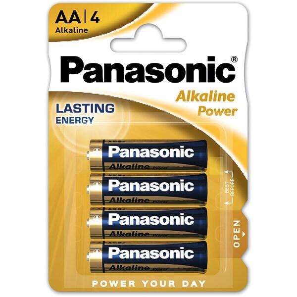 Baterii PANASONIC Alkaline Power Bronze LR6/AA, 4 bucati