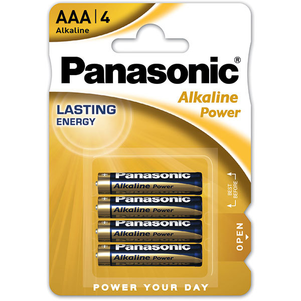 Baterii PANASONIC Alkaline Power Bronze LR03/AAA, 4 bucati