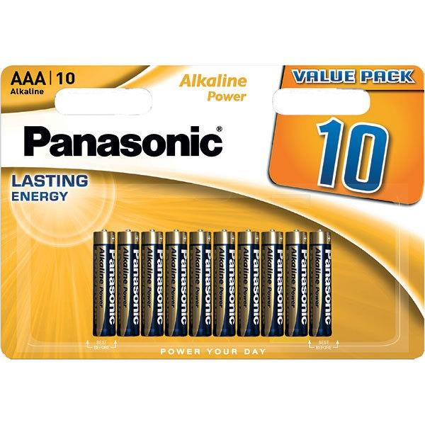 Baterii PANASONIC Alkaline Power Bronze LR03/AAA, 10 bucati