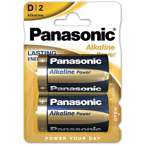 Baterii PANASONIC Alkaline Power Bronze LR20/D, 2 bucati