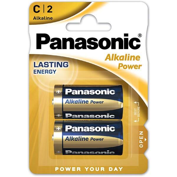 Baterii PANASONIC Alkaline Power Bronze LR14/C, 2 bucati