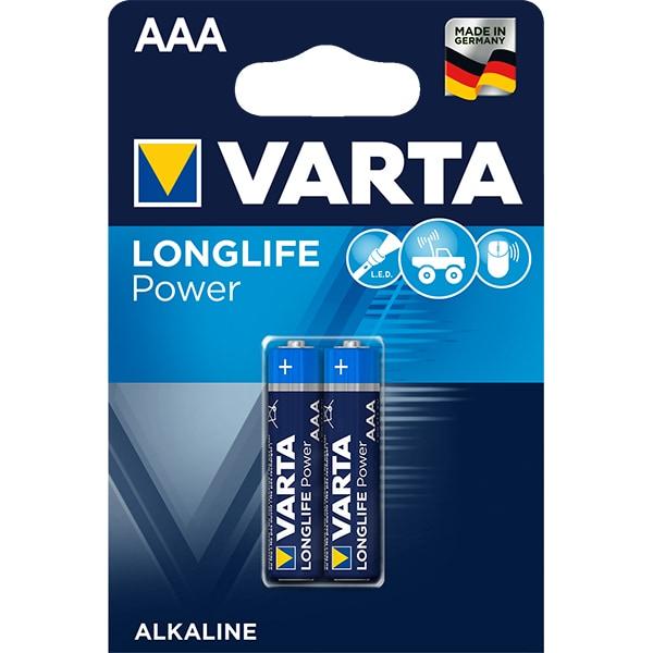 Baterii alcaline AAA VARTA Longlife Power, 2 bucati
