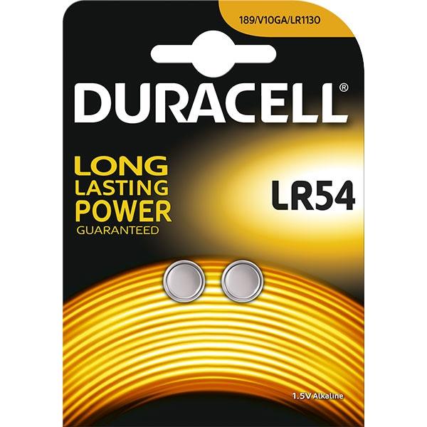 Baterii Alcaline DURACELL LR54, Long Lasting Power, 1.5V, 2 bucati