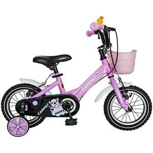"""Bicicleta pentru copii CARPAT C1202C, 12"""", roz-alb"""