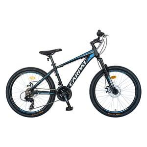 """Bicicleta de munte CARPAT C2499A, 24"""", cadru aluminiu, negru-albastru"""