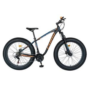 """Bicicleta Fat Bike CARPAT C2600H, 26"""", cadru aluminiu, negru-albastru-portocaliu"""