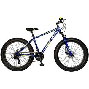 """Bicicleta FAT BIKE CARPAT Hercules C2619B, 26"""", cadru otel, albastru-galben"""