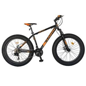 """Bicicleta Fat Bike CARPAT C2619B, 26"""", cadru otel, negru-portocaliu"""