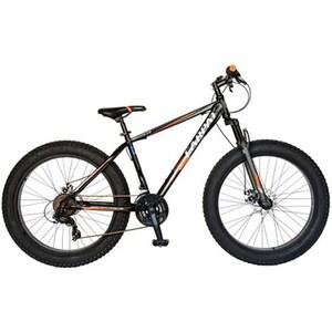 """Bicicleta FAT BIKE CARPAT Hercules C2619B, 26"""", cadru otel, negru-portocaliu"""