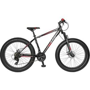 """Bicicleta FAT BIKE CARPAT Hercules C2619B, 26"""", cadru otel, negru-rosu"""