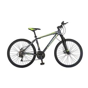 "Bicicleta de munte CARPAT Montana C2699A, 26"", cadru aluminiu, gri-verde"