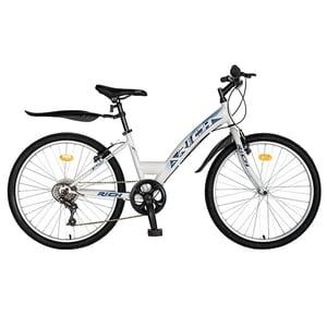 "Bicicleta de oras RICH R2430A, 24"", cadru otel, albastru-alb"