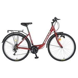 "Bicicleta de oras RICH R2632A, 26"", cadru otel, visiniu-alb"