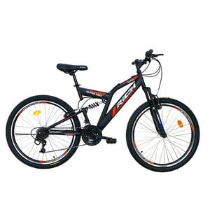 """Bicicleta de munte RICH R2649A, 26"""", cadru otel, negru-rosu"""
