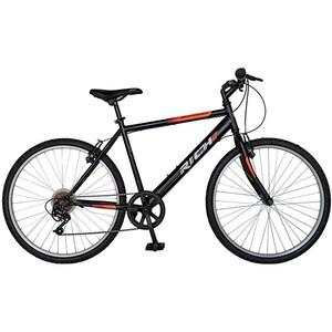 """Bicicleta de munte RICH 2673, 26"""", cadru otel, negru-portocaliu"""